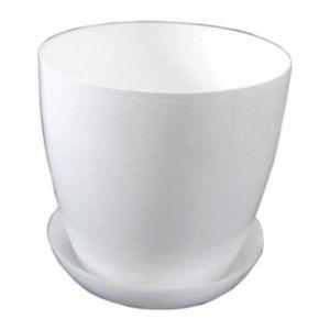 Горшок с поддоном Глянец-М белый, Ø16см, V2,2 л