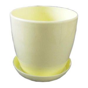 Горшок с поддоном Глянец-М желтый, Ø16см, V2,2 л