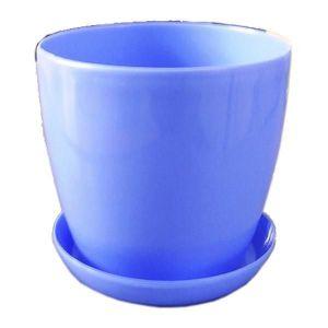 Горшок с поддоном Глянец-М голубой, Ø16см, V2,2 л