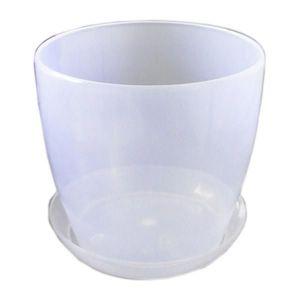 Горшок с поддоном Глянец-М прозрачный, Ø16см, V2,2 л