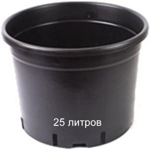 Горшок для растений Vasa Nera Serie Bassa 25 л