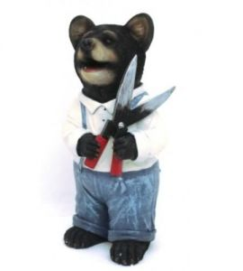 Фигурка декоративная Мишка садовник