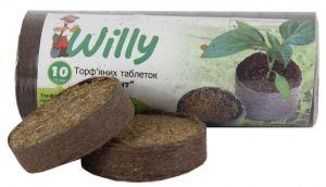 Набор торфяных таблеток Willy Гигант в сеточке Ø70мм 10 шт
