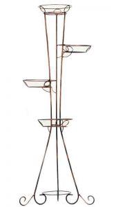 Кованая подставка Башня (квадратный профиль) 4 вазона