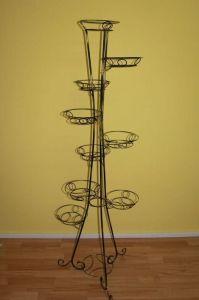 Кованая подставка Башня (круглый профиль) на 9 вазонов