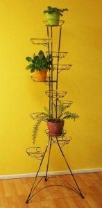 Кованая подставка Башня (квадратный профиль) 11 вазонов