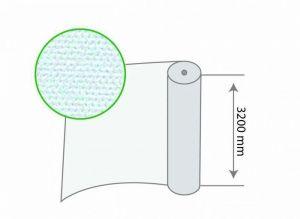 Рулон белого агроволокна плотность 17 г/м.кв, размер 3,2мх100м