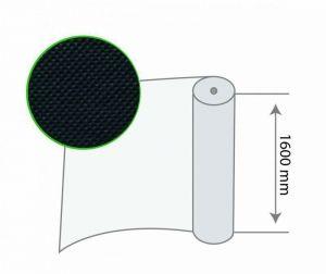 Рулон черного агроволокна 60 г/м.кв, размер 1,6х100м