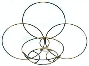 Кованая подставка Кольцо Настенное