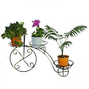 Кованая стойка Велосипед на 3 вазона