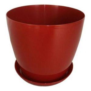 Горшок с поддоном Глянец-М красный, Ø16см, V2,2 л