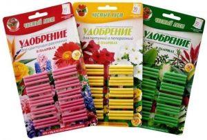Удобрение в палочках для цветущих растений