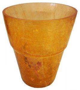 Горшок для орхидей, стекло, Ø13см (желтый)