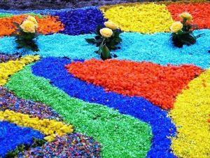 цветная декоративная крошка