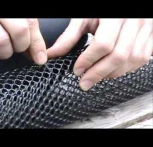 Сетка для защиты водостоков (ячейка 7*7 мм)