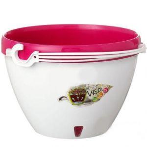 Горшок подвесной Виста (Vista) белый-пурпурный 3,8 литров