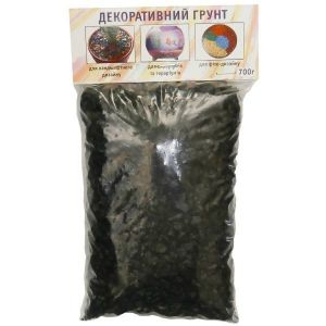 Грунт декоративный Дім Сад Город плюс черный 0,7 кг
