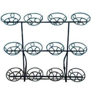 Кованая стойка Фиалка оконная на 12 вазонов