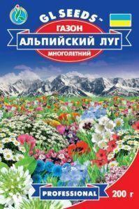 Газонная трава Gl Seeds Альпийский луг 0,2 кг