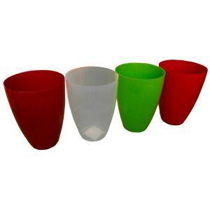 Горшок с подставкой Глянец глубокий красный Ø15см, V2,3 л