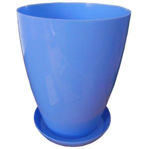 Горшок с подставкой Глянец глубокий, диаметр 15 см