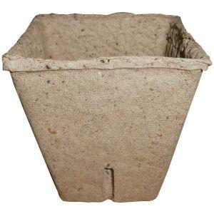 Горшок торфяной для рассады (квадратный, 80х80мм)