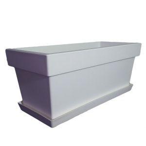 Горшок с подставкой Lofly (Лофли) балкон, 8 литров Белый