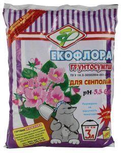 Грунт Экофлора для сенполии 3,5 л
