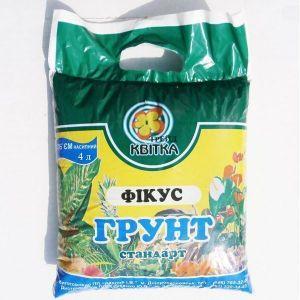 Грунт Квитка для фикусов (4 литра)