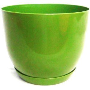 Горшок с подставкой Классик оливковый