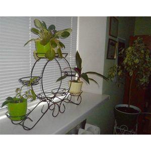 Кованая стойка Карета мини на 8 вазонов