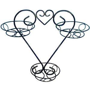 Подставка настенная Сердце 3 вазона