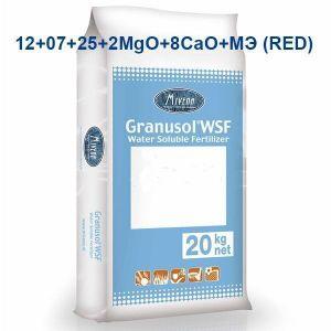 Удобрение Granusol WSF 12+07+25+8СаО+2MgO+МЭ+MV10 (красный)