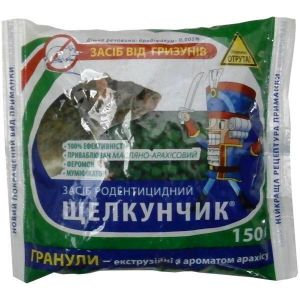 Щелкунчик от грызунов (гранулы с ароматом арахиса), 150 грамм