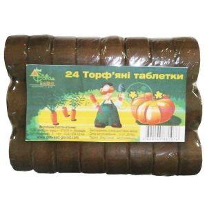 Торфяные таблетки Ø30мм, 24 шт (без сеточки)